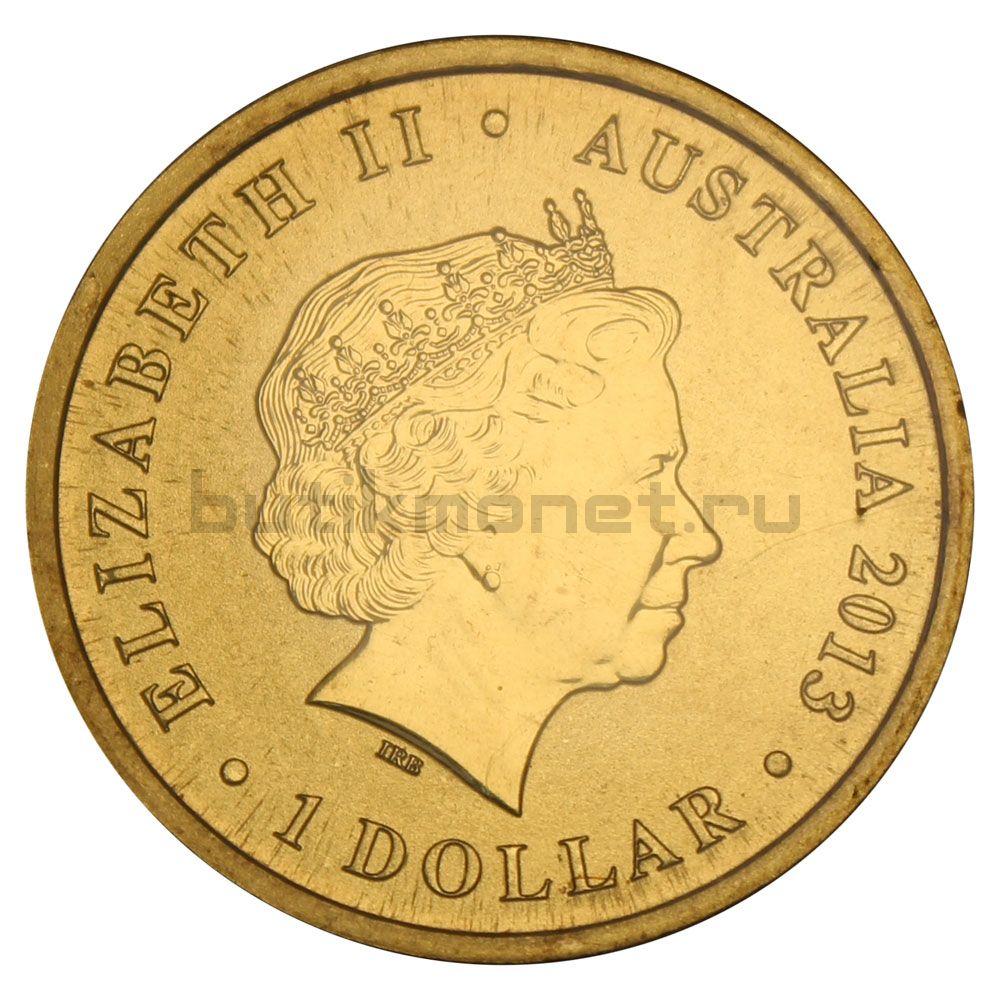 1 доллар 2013 Австралия Кукабара (Детёныши диких животных)