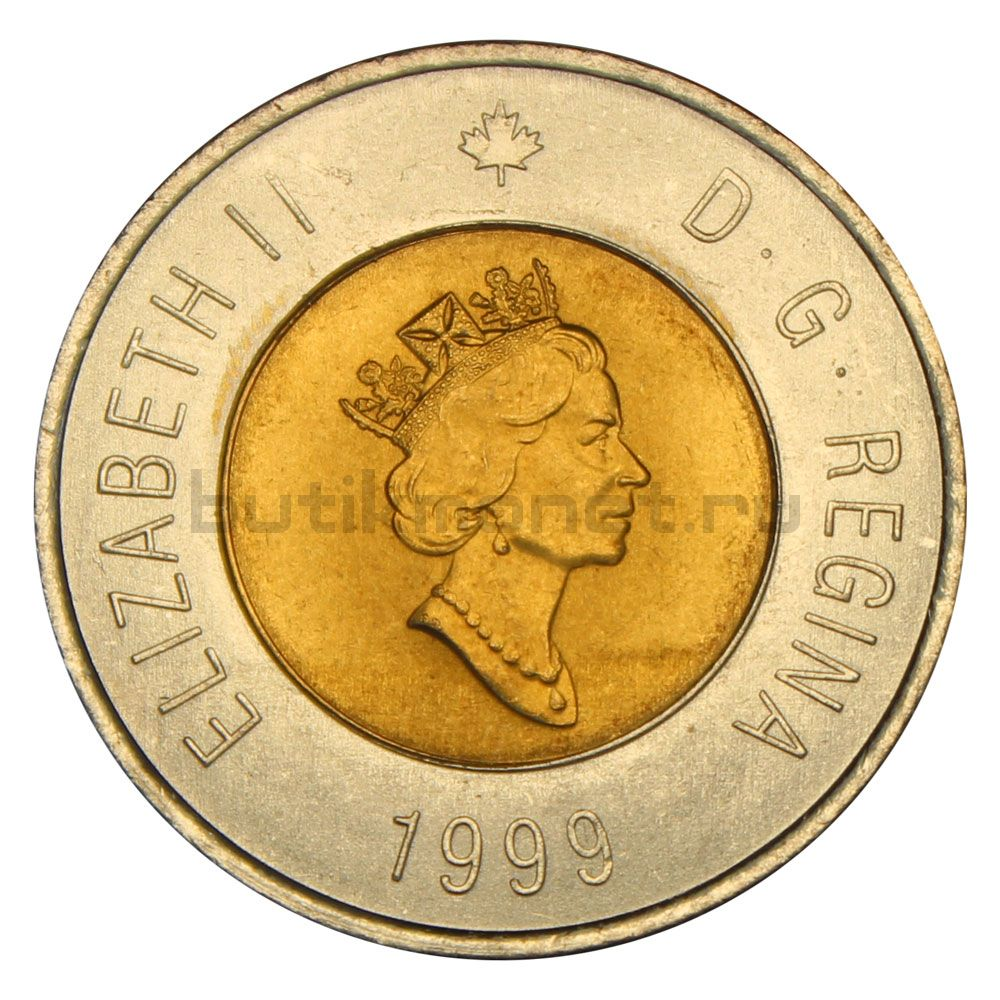2 доллара 1999 Канада Основание Нунавута