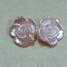 Бусины розовые розы 5 шт