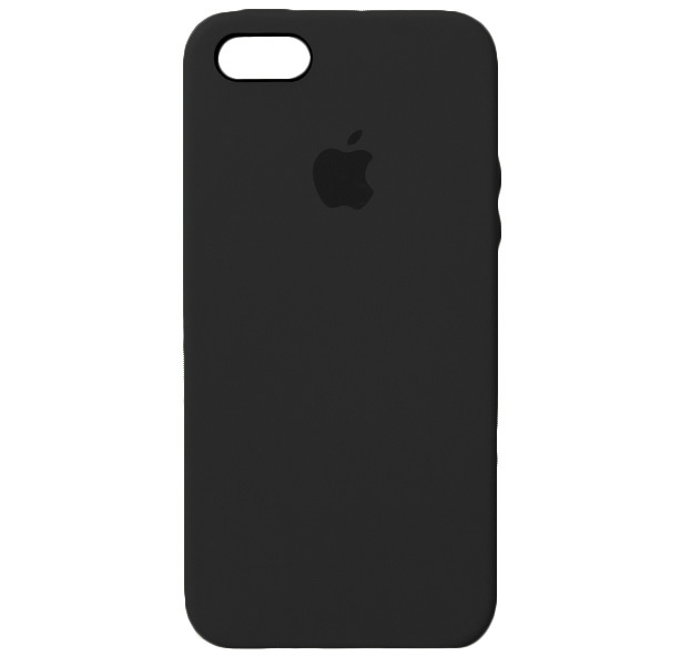 Apple silicon case для iPhone 5/5s/se (черный)