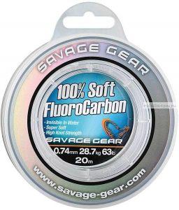 Леска монофильная Savage Gear Soft Fluoro Carbon 35 м / цвет: прозранчый