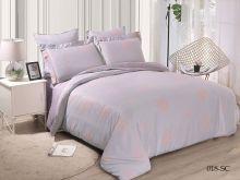Комплект постельного белья Лен Soft cotton жаккард    2-спальный Арт.21/018-SC
