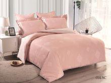 Комплект постельного белья Лен Soft cotton жаккард   евро  Арт.31/014-SC