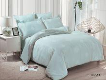 Комплект постельного белья Лен Soft cotton жаккард   семейный  Арт.41/016-SC