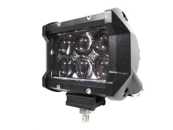Двухрядная светодиодная LED фара с 4D линзой - 18W CREE дальний свет