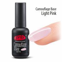 Камуфлирующая каучуковая база для гель-лака PNB UV/LED Camouflage Base Light Pink, 8 мл