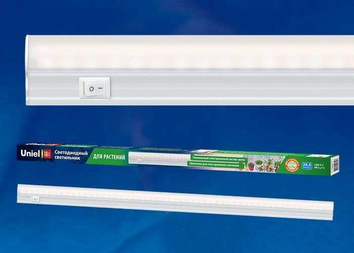 Светильник для растений светодиодный линейный ULI-P10-18W/SPFR IP40 WHITE 550мм