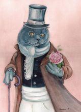 Почтовая открытка Сэр кот