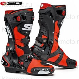 Мотоботы Sidi Rex, Red Fluo/Black