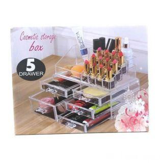 Акриловый органайзер для косметики Cosmetic Storage Box, Количество ящичков: 5