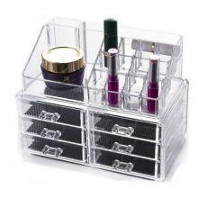 Акриловый органайзер для косметики Cosmetic Storage Box, Количество ящичков: 6