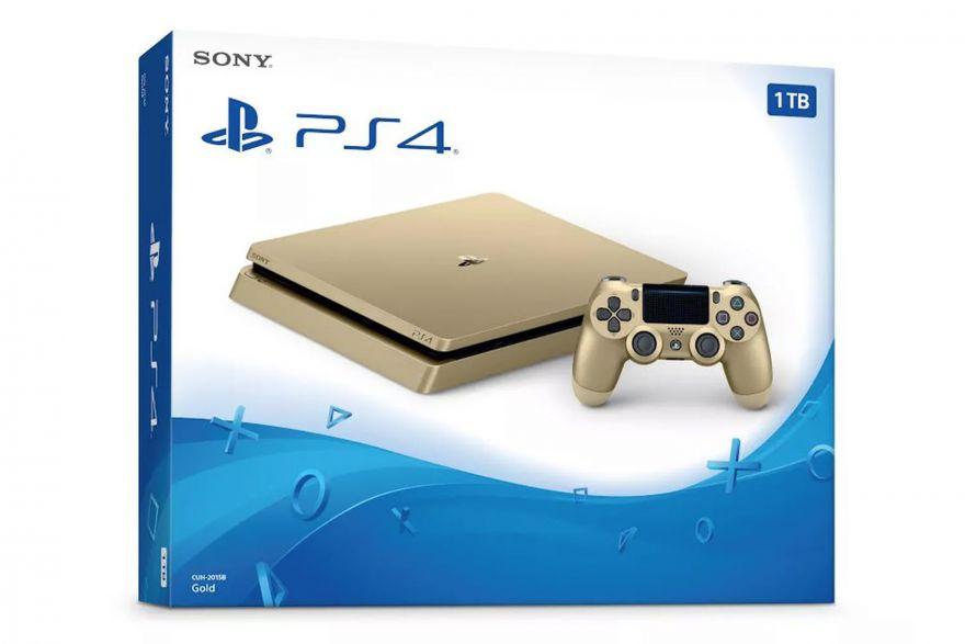 Игровая приставка Sony Playstation 4 Slim 1 TB Золотая (Gold)