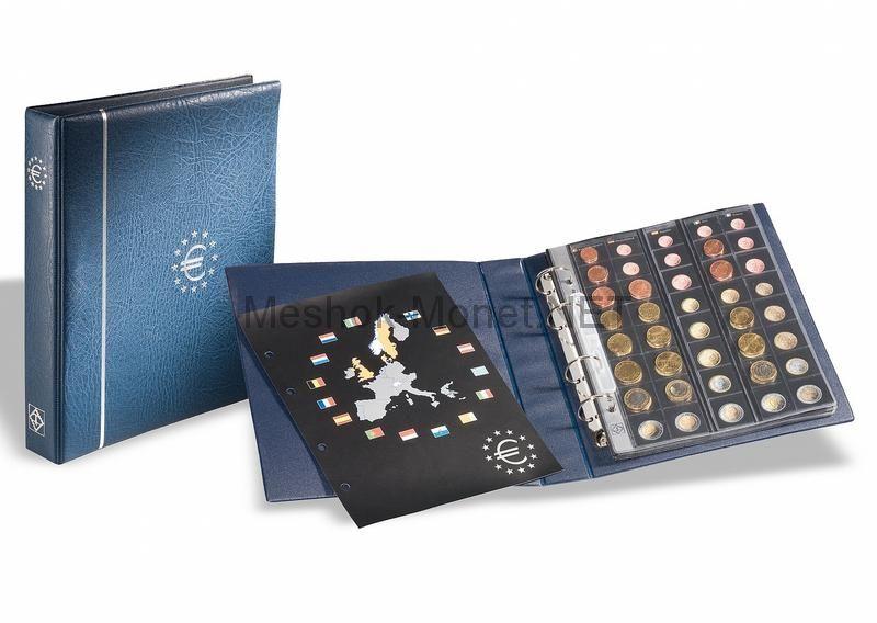 """Альбом для курсовых монет евро серии """"OPTIMA"""" c 5 листами"""