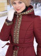 зимнее пальто в русском стиле