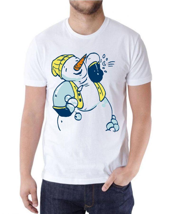 Снеговик футболка мужская