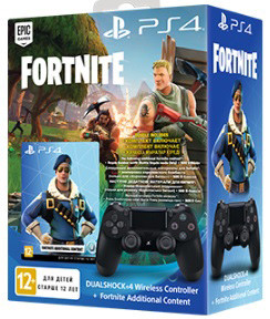Геймпад Sony Dualshock 4 (ver.2) Black (PS4) + Ваучер Fortnite (PS4)