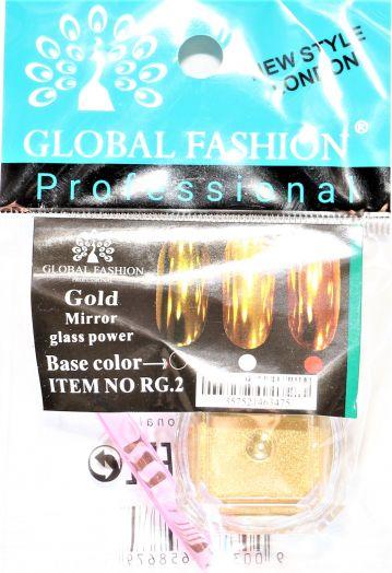 Зеркальная втирка Глобал Фэшн MIRROR GLASS POWER GOLD