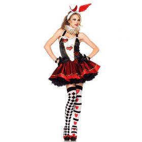 Карнавальный женский костюм мартовский кролик из Зазеркалья