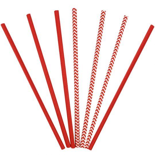 Трубочки красные