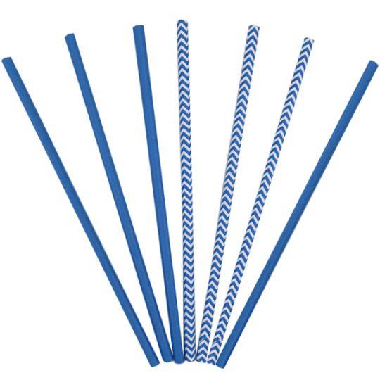 Трубочки синие