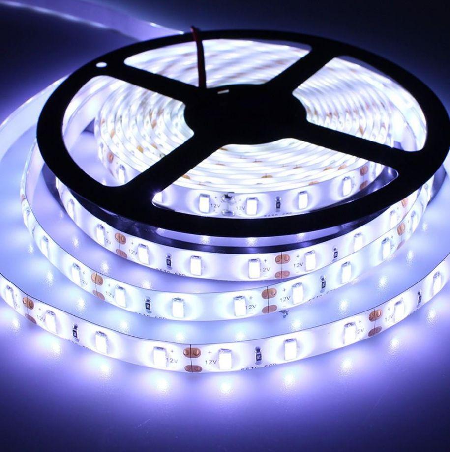 Светодиодная лента с пультом белый свет, 5 м