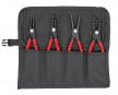 Комплект прецизионных щипцов для стопорных колец KNIPEX  в сумке-скрутке KN-001957V01