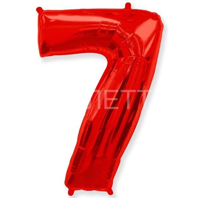 """Цифра """"7"""" красный"""