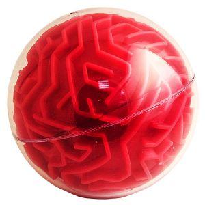 Головоломка  Сфера красная (10 см)