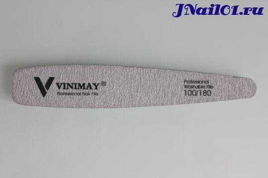 Vinimay, Пилка для искусственных и натуральных ногтей (серая), 100/180 грит