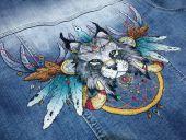 Схема для вышивки крестом Ловец снов - Рысь. Отшив.