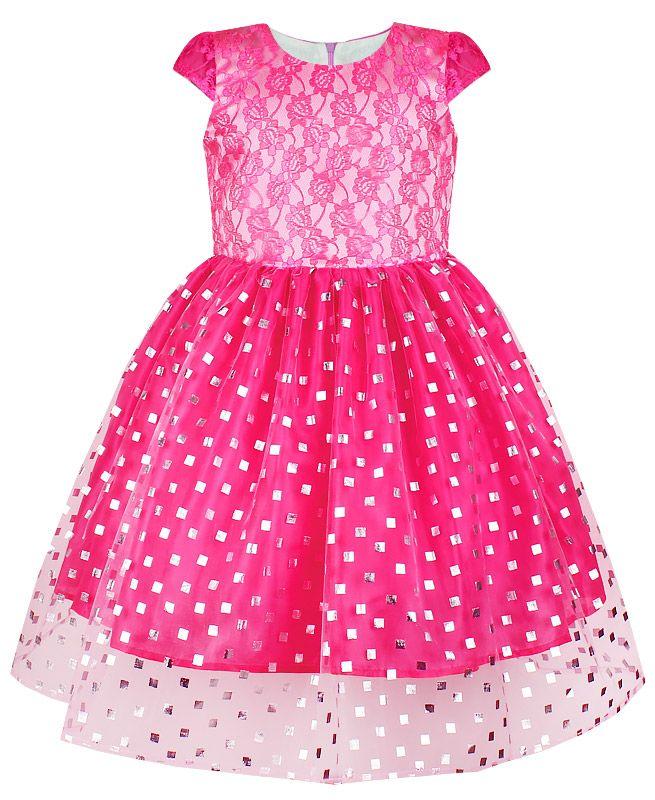 Розовое платье для девочки Диана