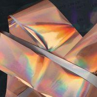 Фольга для дизайна ногтей, литья (переводная). Цвет: глянцевая розовое золото (Размер: 4см на 1 метр)