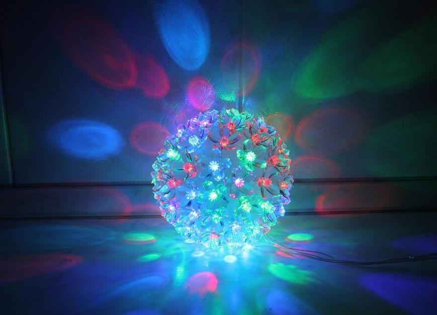 Эксклюзивный светодиодный LED шар с лампами в виде цветов Led Light (Лампочек 100 шт, диаметр 14 см)