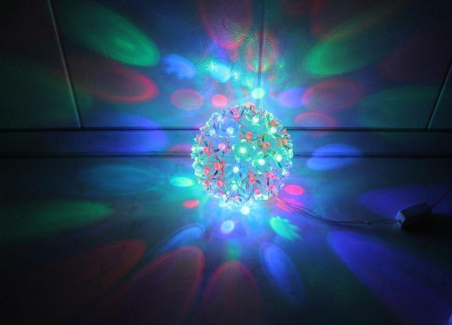 Эксклюзивный светодиодный LED шар с лампами в виде цветов Led Light (Лампочек 50 шт, диаметр 10 см)