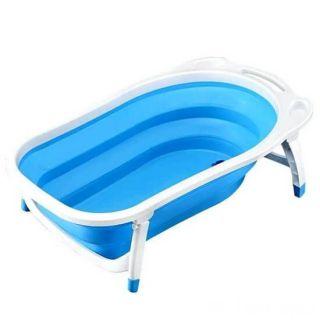 Детская складная ванна Folding Baby Bathtub, голубой