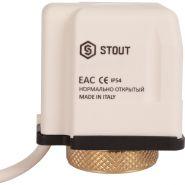 Электротермический компактный сервопривод, нормально открытый, 230В STOUT STE-0010-230002