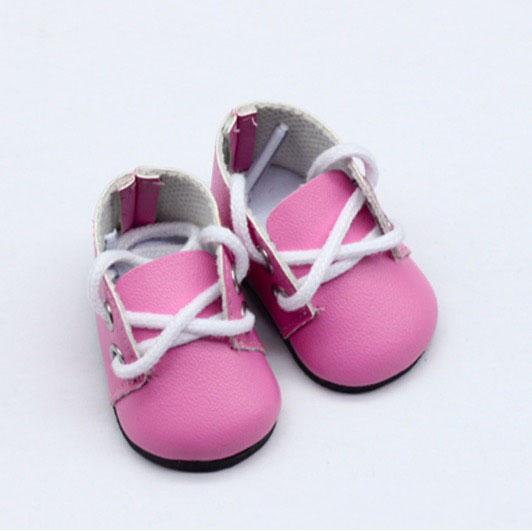 Обувь для кукол - ботиночки 5 см (розовые)