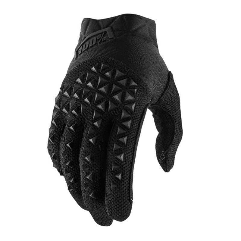 100% - 2019 Airmatic Black/Charcoal перчатки, черно-серые