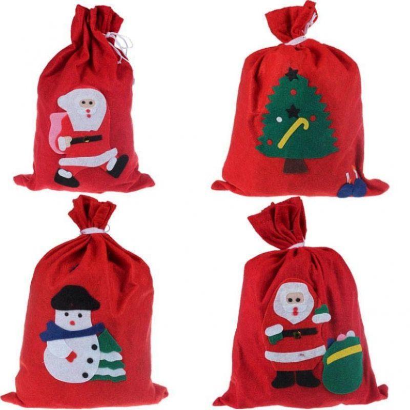 Новогодний мешок для подарков, 40х60 см