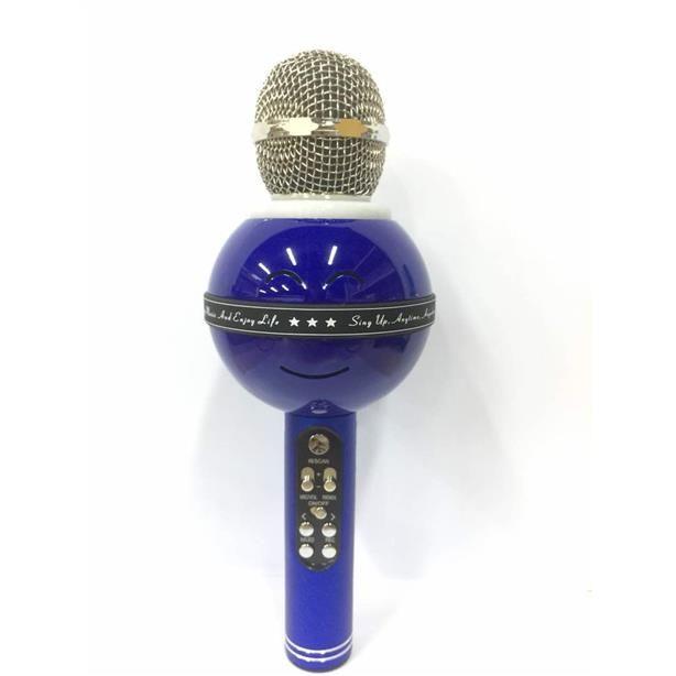 Беспроводной Караоке-Микрофон WS-878, Синий