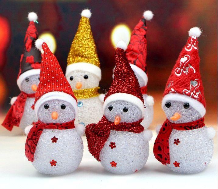 Игрушка новогодняя Светящийся снеговик