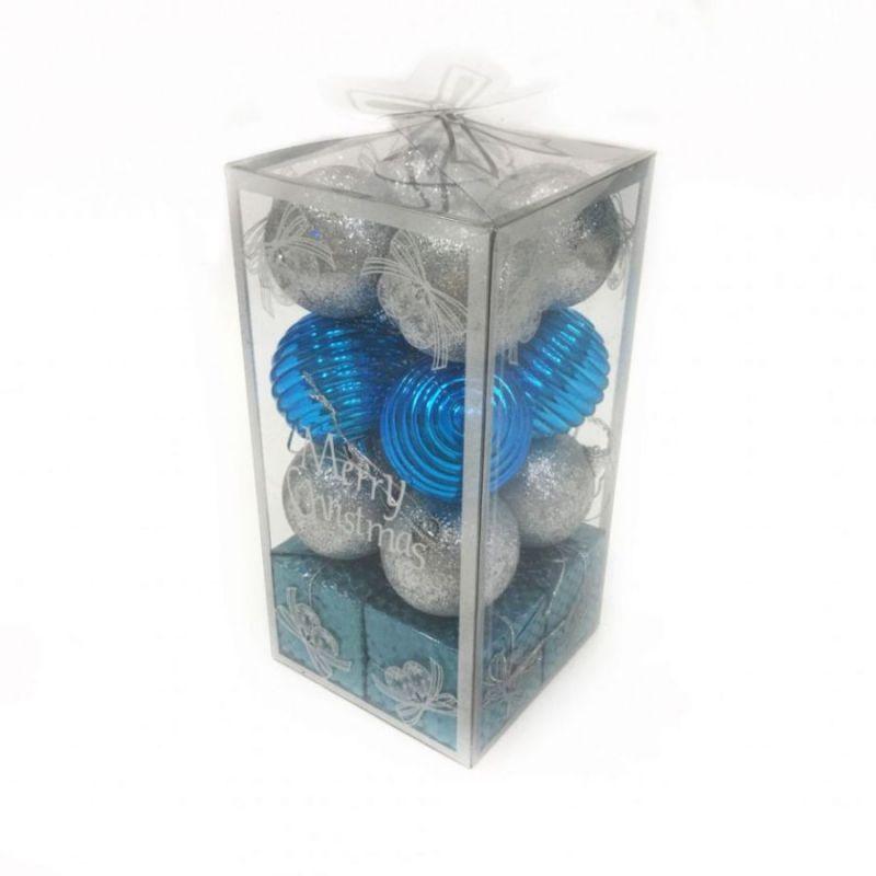 Набор новогодних елочных украшений  Шары и Подарки, 16 шт
