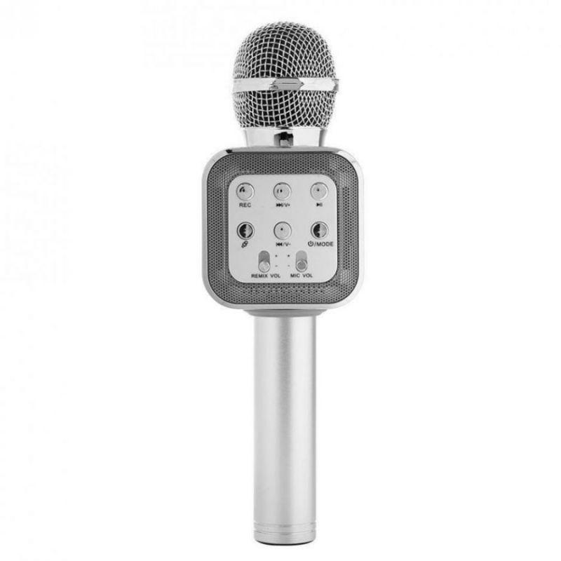 Беспроводной Караоке Микрофон WS-1818, Серебристый
