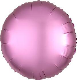 "Круг, розовый сатин люкс, 18""/ 48 см, Анаграм"