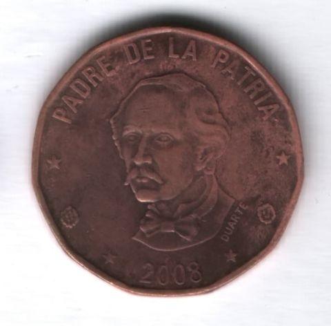 1 песо 2008 года Доминиканская Республика