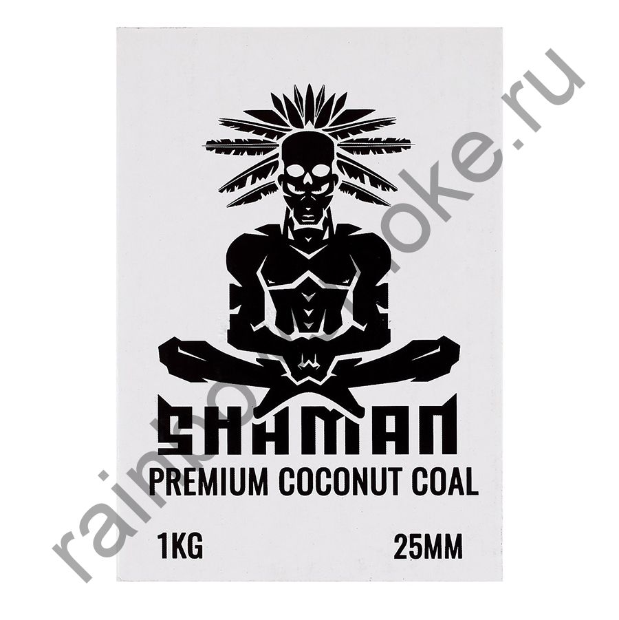 Уголь кокосовый для кальяна Shaman 25мм (72шт)