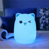 Мягкий силиконовый ночник Colorful Silicone Lamp, Мишка (2)