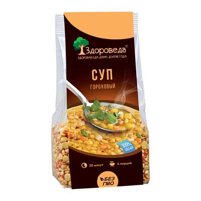 Суп гороховый веганский Здороведа - 250 гр