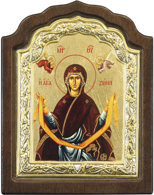 """Икона """"Покров пресвятой Богородицы"""" (Греция, 20х16 см.)"""