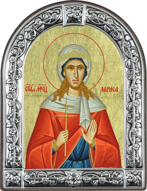 Икона Святая мученица Лариса (Греция, 13х10 см.)